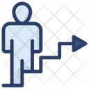 Career Ladder Career Path Business Productivity Icon