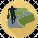 Career Path Man Icon
