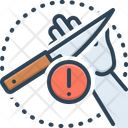 Carefulness Cautious Knife Icon