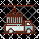 Cargo Container Truck Icon