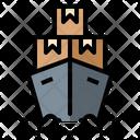 Cargo Shipping Transport Icon
