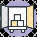 Cargo Truck Loading Icon