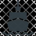 Cargo Ship Sailing Icon
