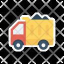 Cargo Truck Construction Icon