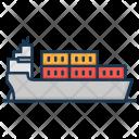 Cargo Ship Logistics Icon