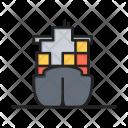 Cargo Ship Container Icon