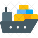 Cargo Ship Boat Icon