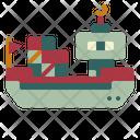 Cargo Ship Shipping Icon