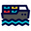 Cargo Ship Shipping Icon