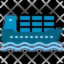 Cargo Ship Ocean Sea Transportation Shipping Container Icon