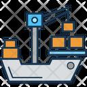 Cargo Crane Freight Shipping Icon