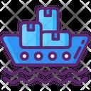 Cargo Barge Cargo Shipping Cargo Delivery Icon