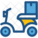 Cargo Bike Scooter Icon