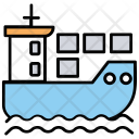 Cargo By Ship Icon
