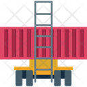 Cargo Container Delivery Sea Freight Icon