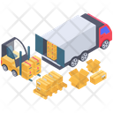 Container Loading Containerization Cargo Container Icon