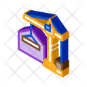 Cargo Crane Warehouse Icon