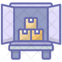 Container Loading Delivery Truck Shipment Icon