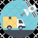 Cargo Satellite Tracking Icon