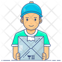 Cargo Services Delivery Boy Emissary Icon