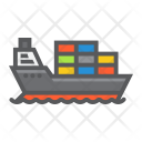 Cargo Ship Logistic Icon