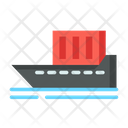 Cargo Ship Water Delivery Shipment Icon