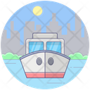 Cargo Ship Consignment Delivery Marine Shipment Icon