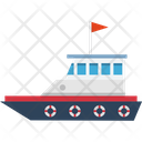 Cargo Ship Sailing Vessel Shipment Icon
