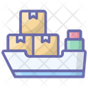 Cargo Ship Consignment Delivery Maritime Shipment Icon