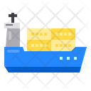 Cargo Container Logistics Icon