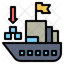Cargo Ship Ship Transportation Icon