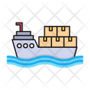 Cruise Ship Logistics Icon