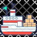 Cargo Ship Delivery Ship Icon