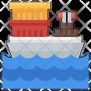 Cargo Ship Transportation Distribution Icon