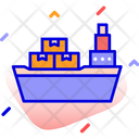 Cargo Ship Shipping Tanker Icon