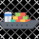 Cargo Ship Sea Freight Ship Icon