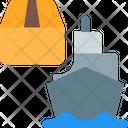 Cargo Ship Shipping Logistics Icon