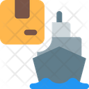 Cargo Ship Ship Delivery Ship Delivery Box Icon