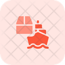 Cargo Ship Shipping Logistics Icon