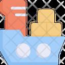 Cargo Ship Transportation Transport Icon