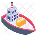 Sea Logistics Cargo Ship Sea Freight Icon