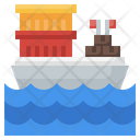 Cargo Ship Sea Freight Consignment Delivery Icon