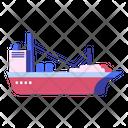 Cargo Ship Transportation Icon