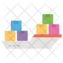 Cargo Ship Container Loading Loading Icon