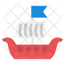 Cargo Ship Sailing Icon