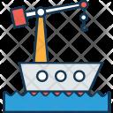 Cargo Ship Crane Icon