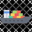Cargo Ship Delivery Icon