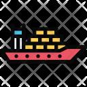 Cargo Ship Vehicle Icon