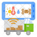Cargo Tracking Cargo Ship Logistics Digital Transformation Tracker Transportation Icon