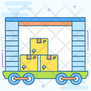Cargo Train Box Car Freight Train Icon
